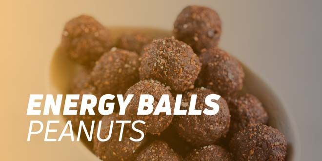 Energy Balls with Peanut Butter, Chocolate Protein, and Caramel