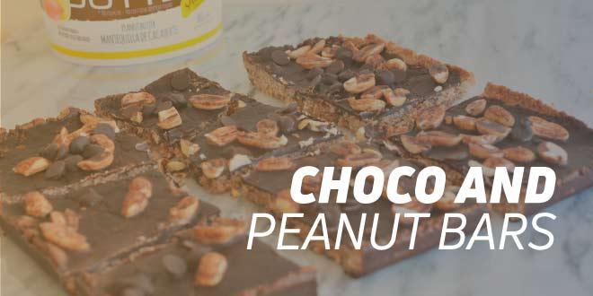 Choco and Peanut Energy Bars