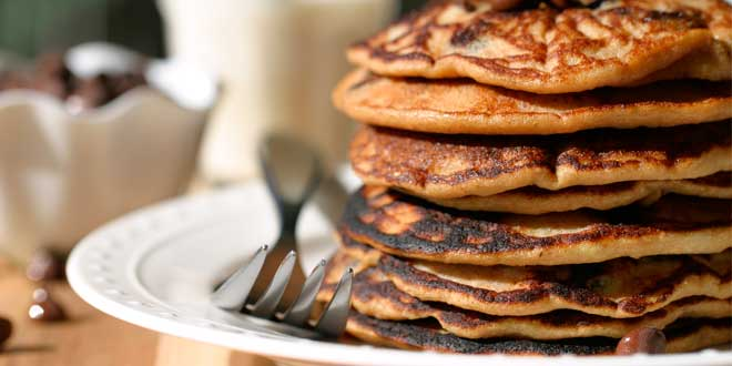 Chocolate and Peanut Butter Pancakes