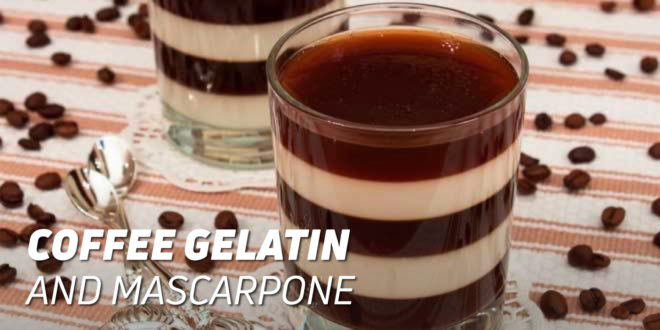 Cup of Coffee Gelatin and Mascarpone Cheese