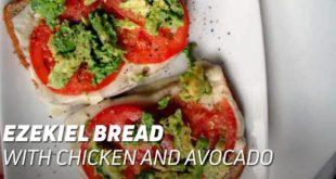 Ezekiel Bread with Chicken and Avocado