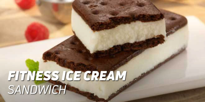Fitness Ice Cream Sandwich with Oat flour and Coconut Oil