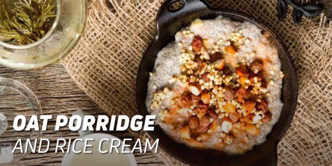 Oat Porridge with Rice Cream and Seeds
