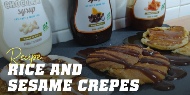 Rice and Sesame Crepes