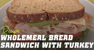 Wholemeal Bread Sandwich with turkey