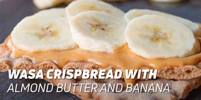 Wasa Bread with Almond Butter and Banana