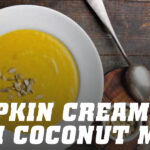 Pumpking cream with coconut milk