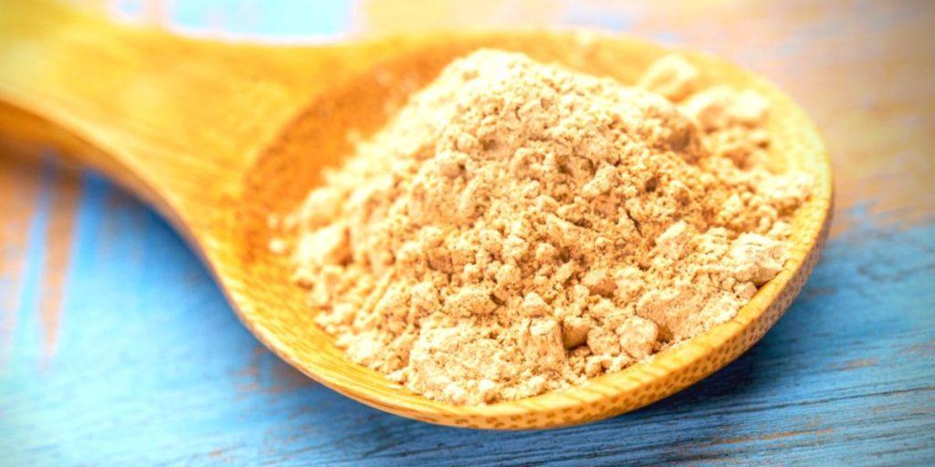 Spoonful of maca powder