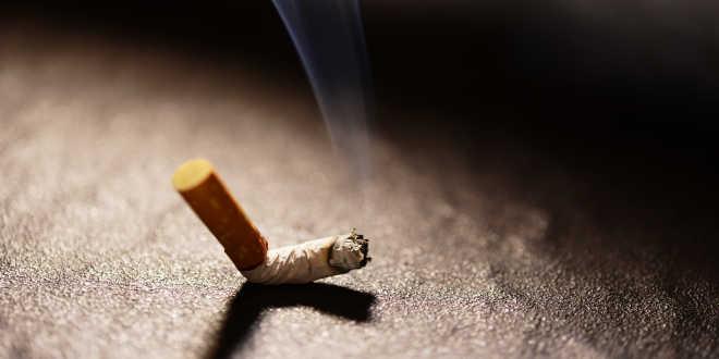 Cigarette on the floor