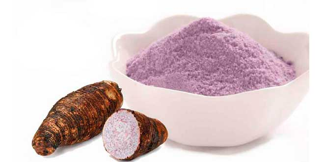 Taro root and powder