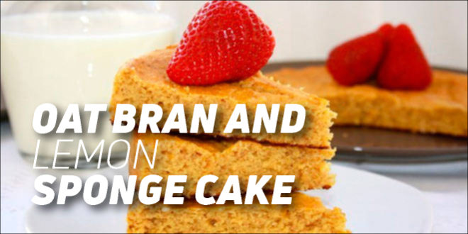Oat bran and lemon sponge cake