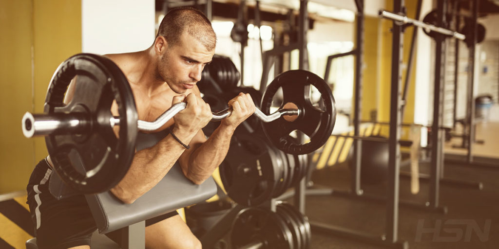 Man weightlifting at the gym