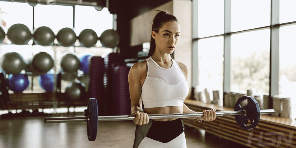 Girl weightlifting