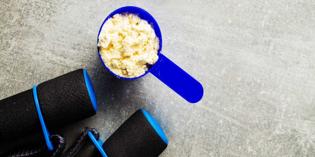 Protein shake and jump rope