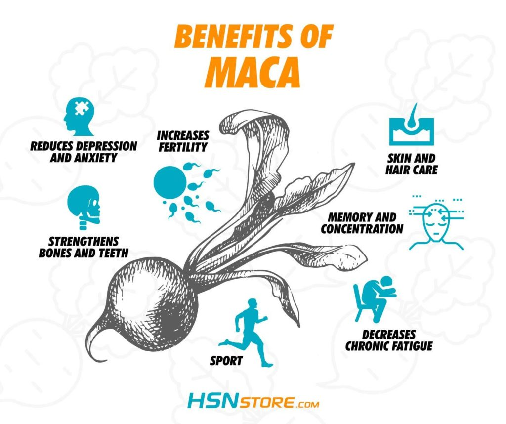 The benefits of Maca for health
