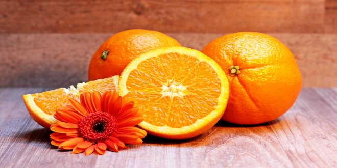 Vitamin C content in oranges