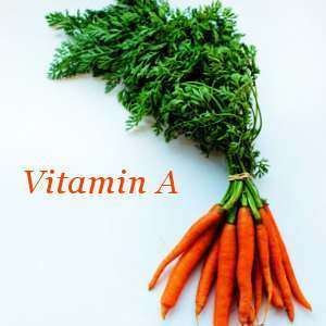 Carrots are a source of Vitamin A