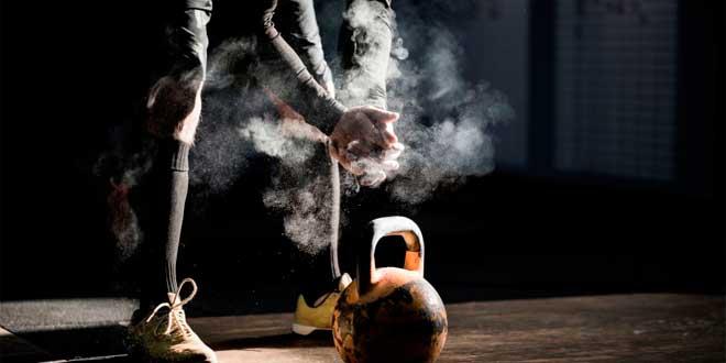 Russian kettlebell training