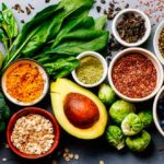 Colorful and healthy diet