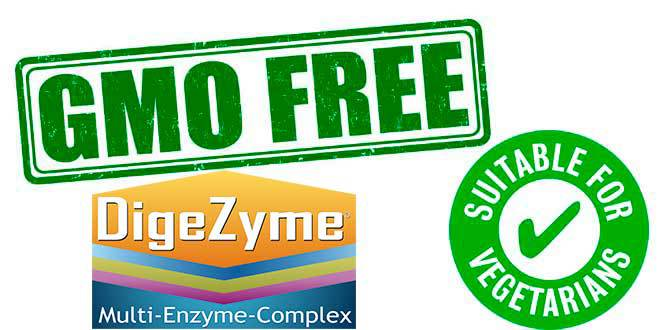 Digezyme is suitable for vegetarians