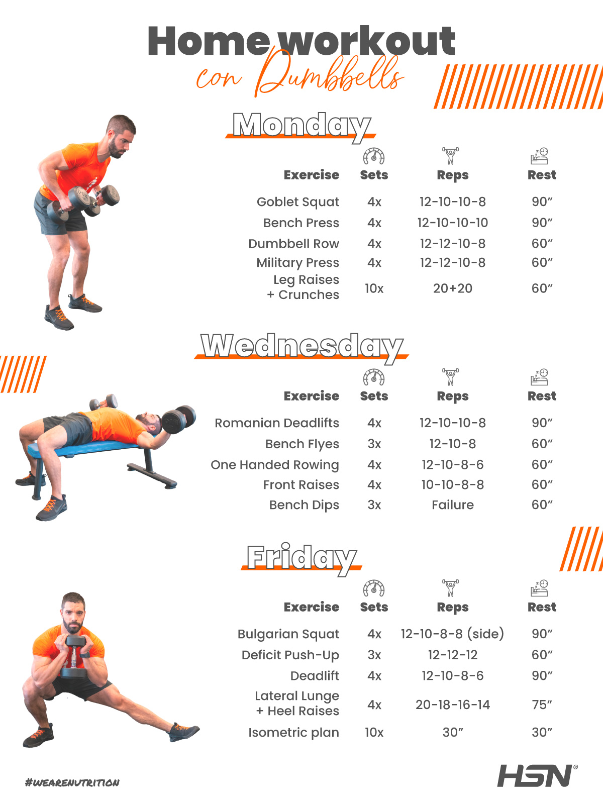 Home Workout with 2 dumbbells first month