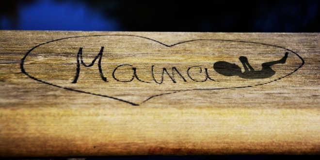 Mama on wood