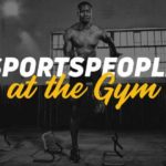 Sportspeople training at the gym