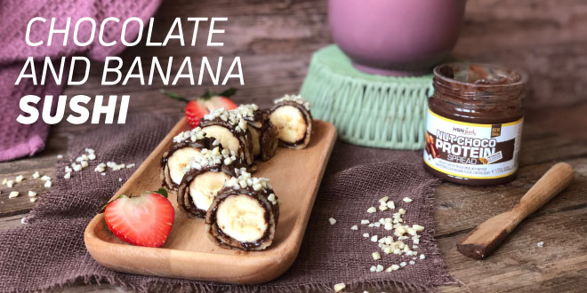 Chocolate and Banana Sushi