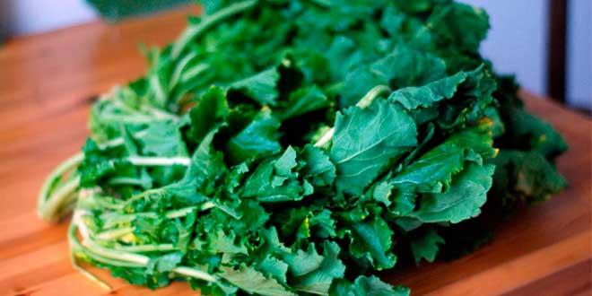 Green leaf vegetables and folic acid
