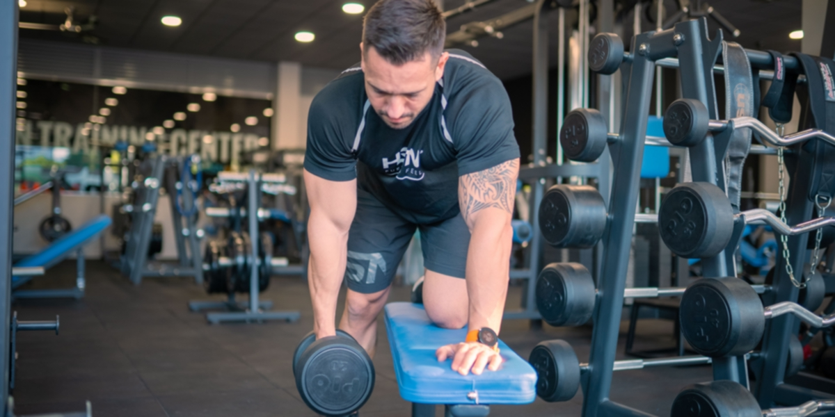 Rowing dumbbell GH