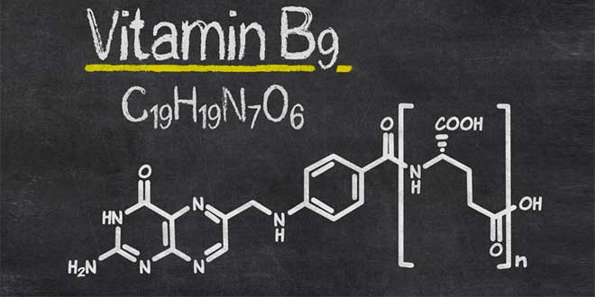 Chemical structure of Vitamin B9