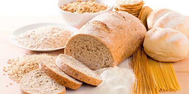 Bread, cereals, flour, pasta