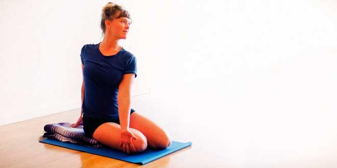 Woman ready to do yoga