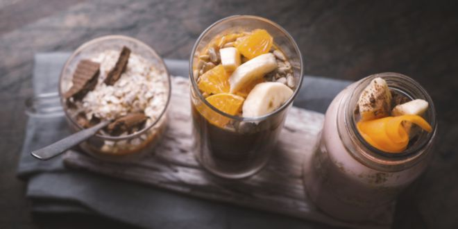 Smoothie with Peanut Butter, Banana and Mandarin