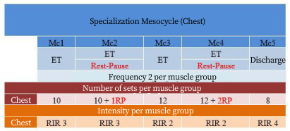Specialization mesocycle chart 1