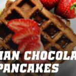 Oat Pancake Waffles with Belgian Chocolate
