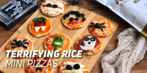 Rice mini pizzas