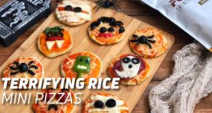 Rice mini pizzas