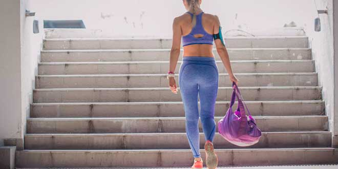 Woman going to the gym