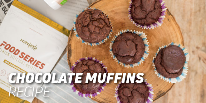 Chocolate Muffins – Add protein to your breakfast!