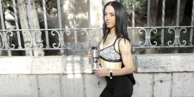 Girl holding a shaker