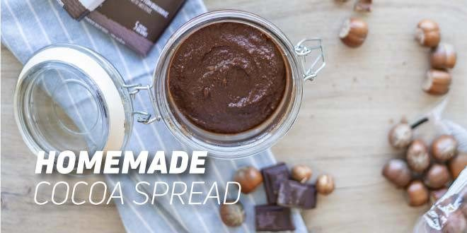 Homemade cocoa and hazelnut spread