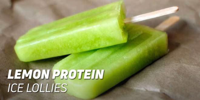 Lemon Protein Ice Lollies