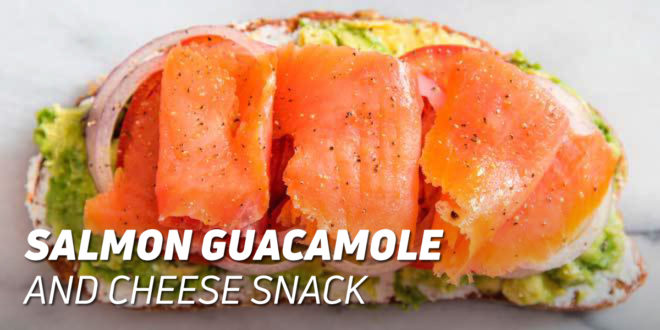 Salmon Guacamole and Cheese Snack
