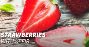 Strawberries with kefir
