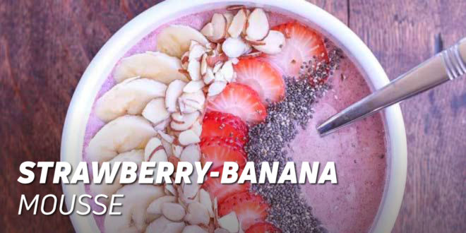 Strawberry Banana Mousse