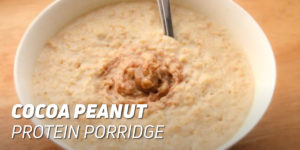 Cocoa Peanut Protein Porridge
