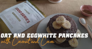 Oat and Egg White Pancakes with Coconut and Cocoa