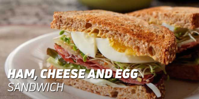 Ham, Cheese and Egg Sandwich