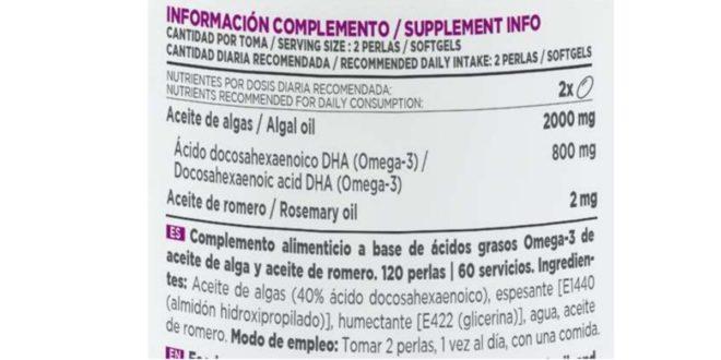 Vegan omega-3 content